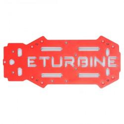 eTurbine - chassis supérieur aluminium rouge pour TB250 racer