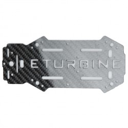 eTurbine - Chassis supérieur carbone TB250 racer