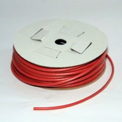 Cable multibrins cuivre silicone 1,5mm² rouge