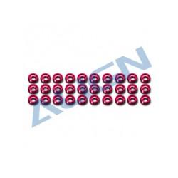 Rondelles M2.5 anodisées rouge (H47Z004XR)