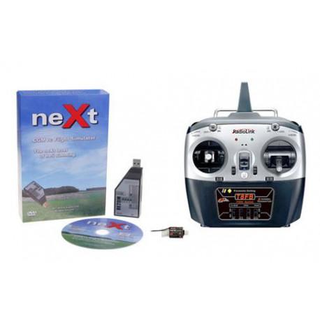 neXt CGM RC Flight Simulator RX2SIM + TF8B mode 2