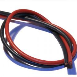 Cable multibrins cuivre silicone 1,5mm² noir