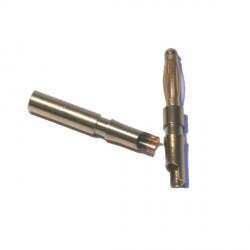 Connecteur 2mm plaqué or