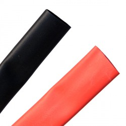 Heat shrink tubing 9.5/4.8 mm red + black
