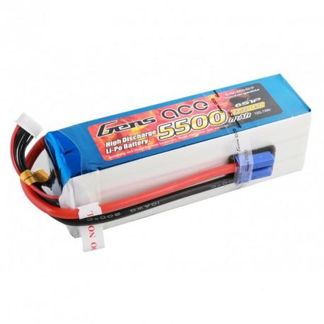 Batterie Lipo GENS ACE 5500 mAh 6S1P 45C