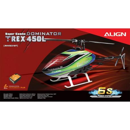 Hélicoptère Align T-REX 450L Dominator Super Combo (6S) Microbeast Plus (RH45E21B)