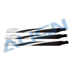 520mm carbon fiber main blades (x3) for Align T-REX 550 rc helicopter (HD520D)