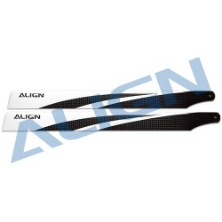 380mm carbon fiber blades (black) for Align T-REX 470 rc helicopter - HD380A