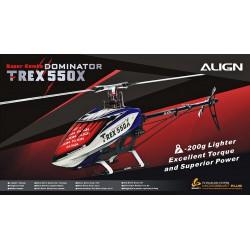 Kit hélicoptère radio commandé T-REX 550X Dominator Combo (RH55E21X)