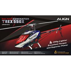 Kit hélicoptère radio commandé Align T-REX 550X Dominator Super Combo (RH55E19X)