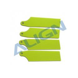 Pales anticouple 69 mm jaune fluo hélico rc electrique Align T-Rex 450/470- HQ0693B