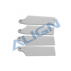 Pales anticouple 69 mm pour hélico Align T-Rex 450/470 blanc - HQ0693C