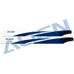 380mm carbon fiber main blades (blue) for Align T-REX 470 rc helicopter - HD380B