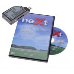 neXt v2 CGM RC Flight Simulator with RX2Sim adapter