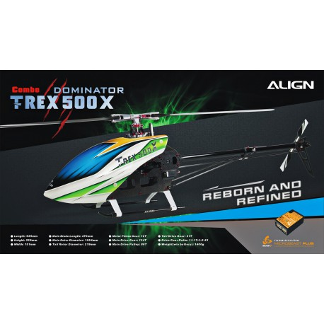 Hélicoptère Align T-REX 500X Dominator Super Combo (RH50E18X-SC)
