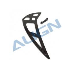 Align T-REX 550X rc heli carbon fiber vertical stabilizer (H55T006XX)