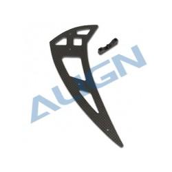 Dérive Carbone hélicoptère radio commandé Align T-Rex 600XN (H6NT003XX)