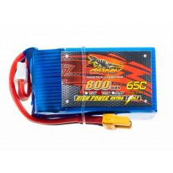 DINOGY 800 mAh 3S1P 65C Lipo Pack