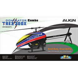 Hélicoptère rc T-REX 300X Dominator Combo