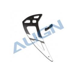 550L Carbon Fiber Vertical Stabilizer-White (H55T002XXW)