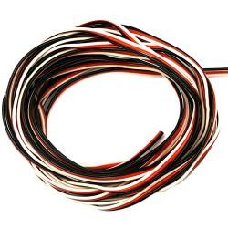 PVC servo strand 3x 0,25mm² wire flat, Futaba Premium