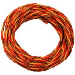 PVC servo strand 3x 0,50mm² wire twisted, JR Premium