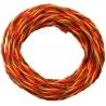 PVC servo strand 3x 0,50mm² wire twisted, JR Premium