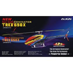 helico télécommande Align T-REX 650X Dominator Super Combo (RH65E01XT)