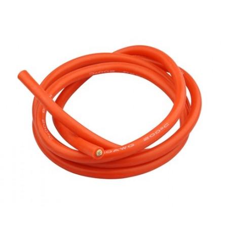 Câble multibrin cuivre silicone 6 mm² rouge Li po ESC hélico rc