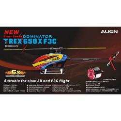 helicoptère radio commandé Align T-REX 650X F3C Combo (RH65E07XT)
