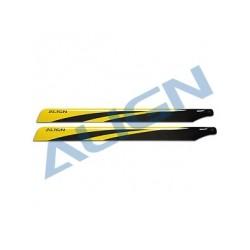 650 Carbon fiber blades - yellow - Align HD650A