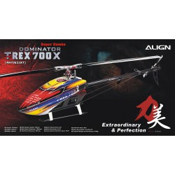 Kit hélicoptère radio commandé Align T-REX 700X Dominator Top Super Combo (RH70E35A)