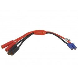 Power supply Y-connection cable (EC3 female to 4mm banana female)