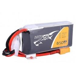 TATTU 850 mAh 3S1P 75C LiPo pack