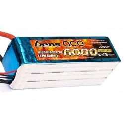 GENS ACE 6000 mAh 6S1P 45C LiPo pack