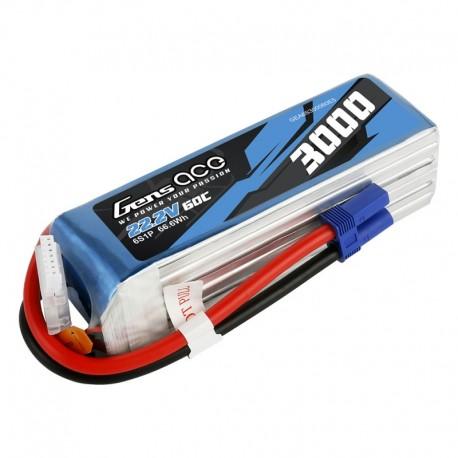 GENS ACE 3000 mAh 6S1P 60C soft pack LiPo battery
