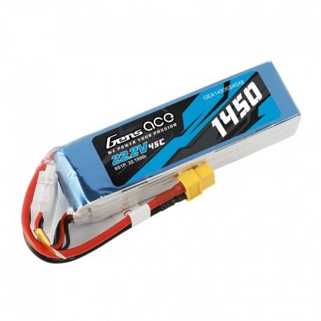 Pack LiPo GENS ACE 1450 mAh 6S1P 45C
