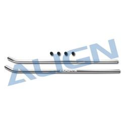 Align T-REX 650/700 skid pipe /silver (HN7049QF)