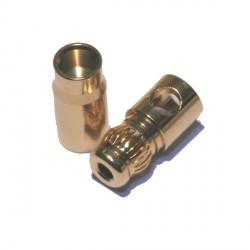Connecteur 6mm bullet plaqué or qualité supérieure