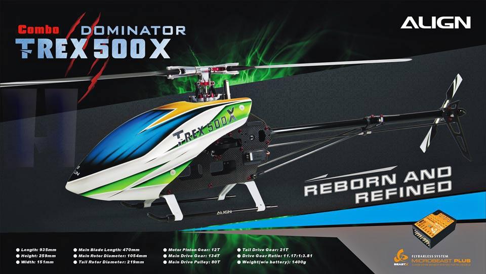 T-REX 500X DOMINATOR