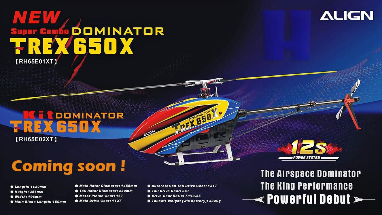 Align T-Rex 650X RC helicopter